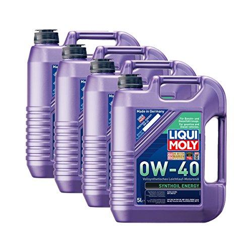 4x LIQUI MOLY 1361 Synthoil Energy 0W-40 Motoröl Vollsynthetisch 5L