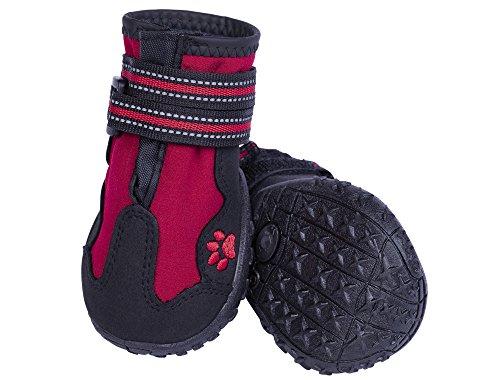 Nobby Zapatillas para Perros Runners, 2 Unidades, Color Rojo, Talla S (4), Largo: 60 mm, Ancho: 51 mm