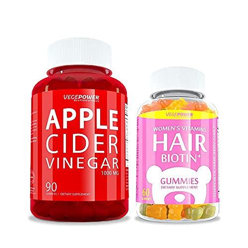 【Value Pack】Biotin Vitamin Gummies + Apple Cider Vinegar Gummies