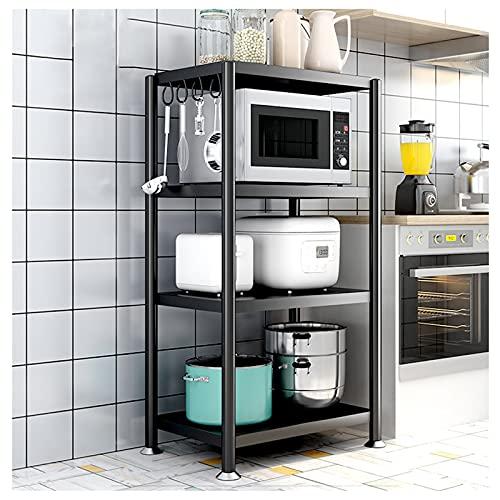 LKH Unidades De Estantería De Metal para Servicio Pesado, Estantes De Almacenamiento Ajustables Microondas para Dormitorio, Sala De Estar, Baño, Cocina, Oficina Y Más(Size:80×40×120cm,Color:4 Tier)