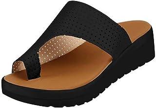 Dames Platte Sandalen Comfortabele Dikke Bodem Summer Open Toe Sandalen Flip-Flop Kleding Schoenen Romeinse Schoenen Stran...