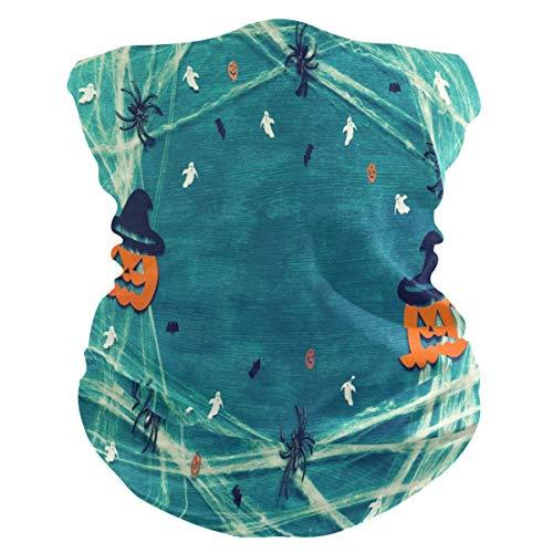 EU Halloween Kürbis Spinne Bandana Hals Schal Gamasche Gesicht Staubmaske Multifunktionale Stirnbänder Haarband für Sport Yoga Laufen Radfahren Wandern