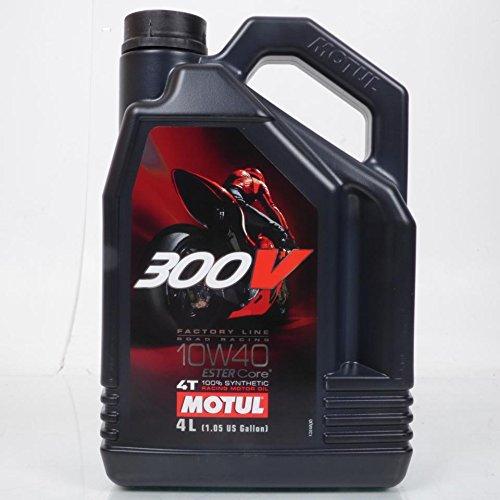 Gleitgel und Pflege Motul für CC von A 104121Staat NEU Öl Motul 300V Factory Line 10W404T/4Liter/doppelte Ester, 100% Synthese Gleitgel Competition, Öl widerstandsfähig cisaillements für eine Beste Schutz Motor/Packs