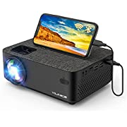 WiFi Projector VILINICE Mini Portable Video Projector, 1080P Full HD Supported Wireless Bluetooth Movie Projector Compatible with iPhone IOS TV Stick Laptop Android for Home Outdoor
