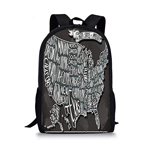 HOJJP Rucksack Bamboo House Decor Stylish School Bag,Illustration of Chinese Symbols for Tranquility Harmony Peace with Bamboo Pattern for Boys,11''L x 5''W x 17''H