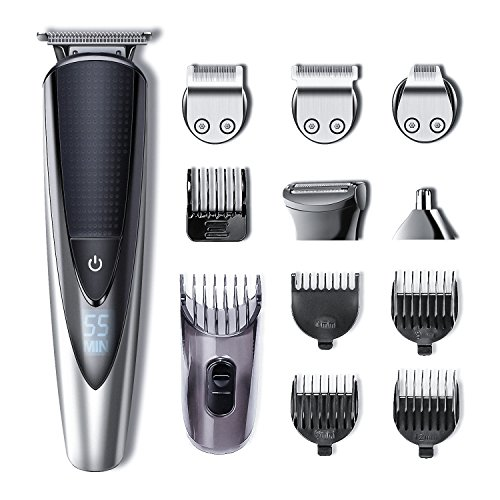 Hatteker Mens Beard Trimmer Kit Body Mustache Trimmer Hair Trimmer for Nose Ear Grooming Trimmer Kit Body Grommer for Men Waterproof Cordless USB Rechargeable All-in-One