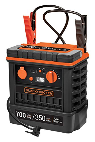 Black + Decker JS700TKCB Starter + Compressor 350A met tas, 12V voor Auto Black and Decker