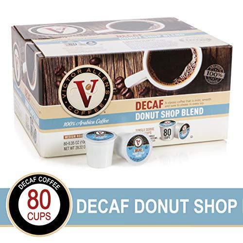 Decaf Donut Shop Blend for K-Cup Keurig 2.0 Brewers, 80 Count, Victor Allen's Coffee Medium Roast Single Serve Coffee Pods