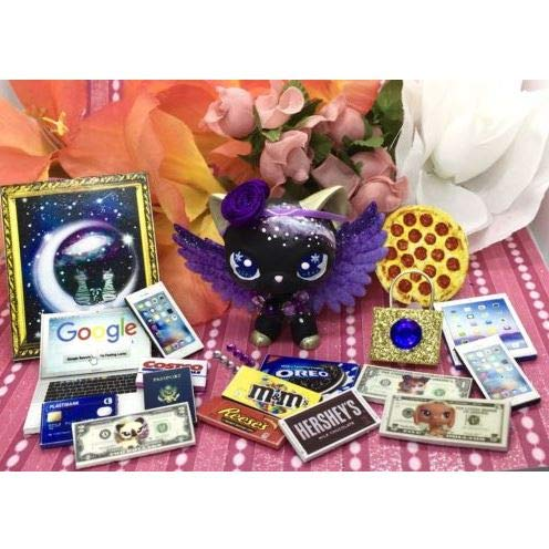 Littlest Pet Shop Purple Custom Galaxy Wings & Accessories LPS PET NOT Included