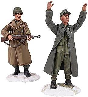 W Britain - U.S. Infantry with Young German Prisoner WW2 #25034