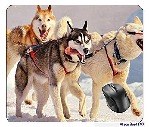Siberian Husky Schlitten Hunde Mousepad Gaming Mouse Pad