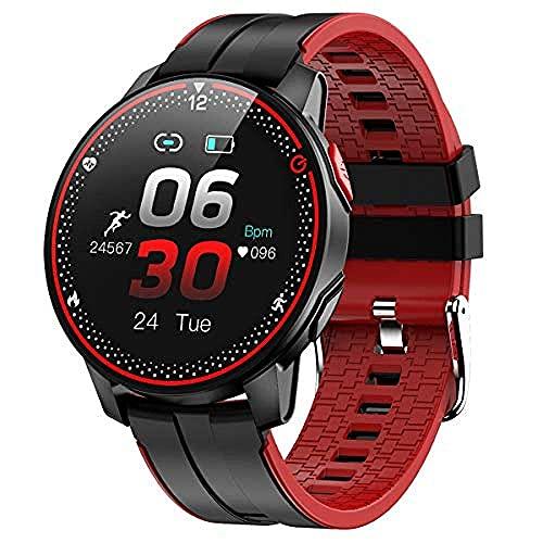 SVUZU Smartwatch, Fitness Tracker Reloj con Monitor de frecuencia cardíaca Presión Arterial Seguimiento del sueño con podómetro de Pantalla táctil de 1.3'IP68 a Prueba de Agua