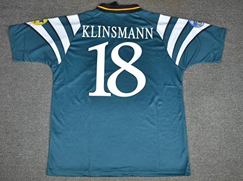 Jurgen KLINSMANN#18 Germany Retro Trikot 1996 Green Color (S)