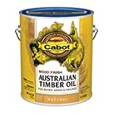 Cabot 140.0019400.007 Australian Timber Oil Water Reducible Stain, Gallon, Low Voc Natural