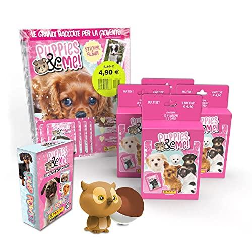Puppies & me Sticker Collection Super Starter Pack [Album + 25 Bustine + card Holder + Gadget Omaggio]