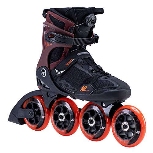 K2 Inline Skates VO2 S 100 BOA Für Erwachsene Mit K2 Softboot, Black - Orange - Red, 30F0175