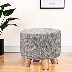 Multiple use: Upholstered footstool can be widely use in your living room, changing room, bedroom as a footrest, footstool, ottoman, pouffe stool, sofa stool, children stool, milking stool, etc. For Children, for changing shoes and foot relaxing. Com...