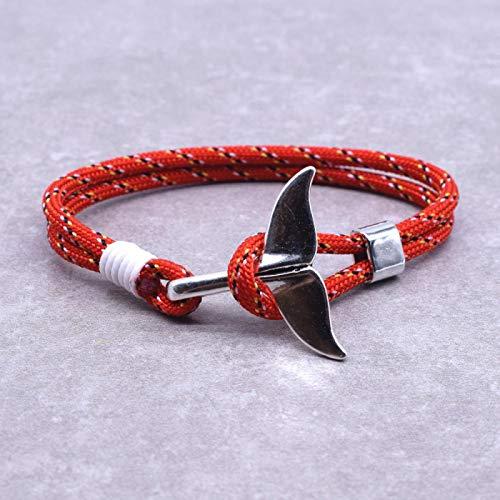ShSnnwrl Estilo clásico Ocean Fashion Jewelry Charm Anchor Bracelet Hombres Mujeres Náutica Supervivencia Cuerda Cadena Wrap Bracelet 9118