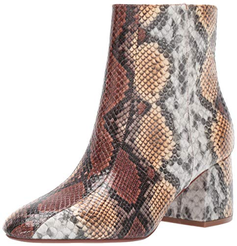 Chinese Laundry Women's DAVINNA Ankle Boot, YELLOW/BROWN Snake, 9.5 M US