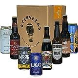 Pack 8 Cervezas Artesanas de Europa - Caja de Cervezas IPA, Tostadas, Kölsch, Red Ale, con un vaso y portadas exclusivos