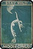 ERMUHEY Sirena Natación Estancia Salvaje Luna Niño Vintage Acuario Decoración Sala Decoración
