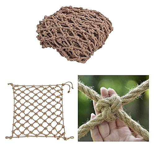 MBTY Hemp Rope Net, Safety Netting for Railings, Treehouse Climbing Net, Balcony Stairs Garden Protection Net, Ceiling Decorative Playground Cargo Net (Size : 210m(6x33ft))