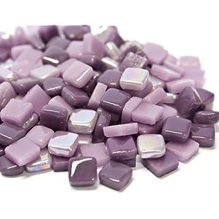 Craft Mosaic tiles - 8mm - Glass Micro Mosaic - Purple Potpourri:Maxmartyn