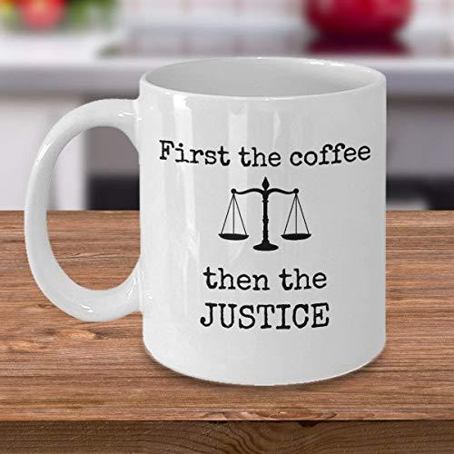 N\A Taza Divertida del Juez del Abogado Primero el café y Luego el Abogado de los Regalos del Tribunal de Justicia