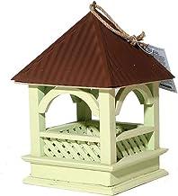 ZDJR Alimentador de Aves Silvestres, Casa de Aves Funcional y Elegante, Artes y artesanías Retro Casa de Aves Casa de Campo, Colgante para jardín Patio Exterior Decoración