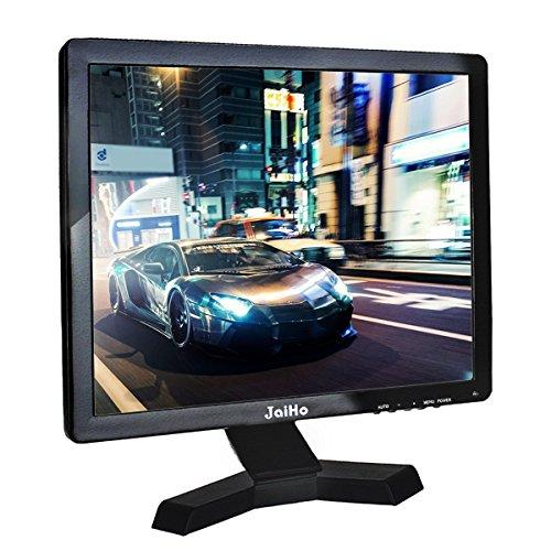 """JaiHo Monitor LCD da 17"""" pollici Risoluzione 1280x1024 Schermo 4: 3 FHD 1080P HD Video Audio Display HDMI BNC VGA AV USB In / OutG1 Auricolare per PC Camera DVR CCTV"""