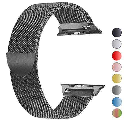 Tervoka Ersatzarmband kompatibel mit Apple Watch Armband 44mm 42mm, Metall Edelstahl Ersatzarmband kompatibel mit iWatch Series 5/4/3/2/1 Spacegray