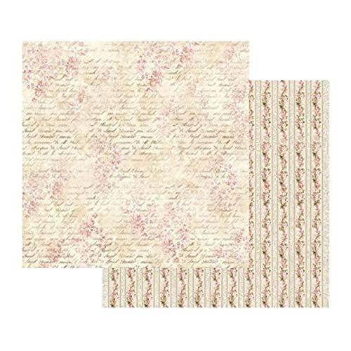 STAMPERIA SBB435 Scrapbooking-papier, dubbelzijdig, bloemenpatroon, meerkleurig, 31,5 x 30,5 cm