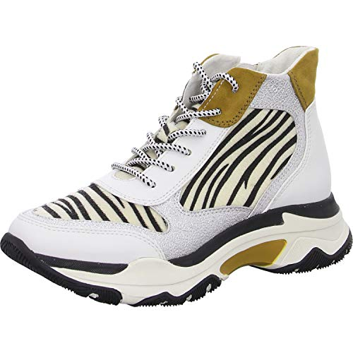 MARCO TOZZI Damen 2-2-25714-33 Sneaker, Weiß (White/Zebra 124), 39 EU