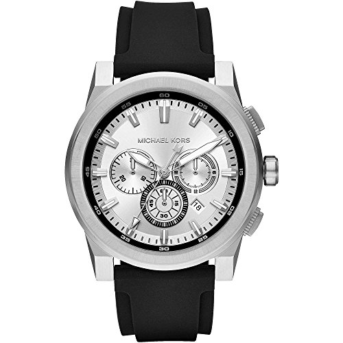 Michael Kors Reloj Analogico para Hombre de Cuarzo con Correa en Silicona MK8596