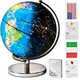 Children Illuminated Spinning World Globe with Stand Plus a Bonus Card Game. 3