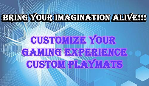 "Custom Playmat 14"" x 24"" Your Design Printed Any Image Tournament and Card Game Legal"