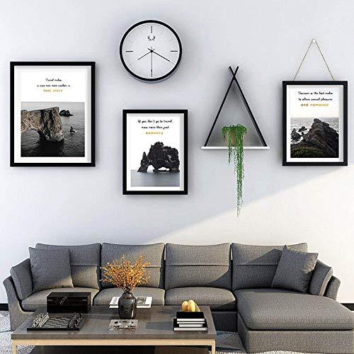 WYZQ Set mit 3Art-Rahmen, 1 Stück 16,6 x 20,5 Zoll, 2 Stück 12,7 x 17,7 Zoll, schwarzer Bilderrahmen aus massivem Holz für Tischdisplay oder Wandhalterung, Fotorahmen