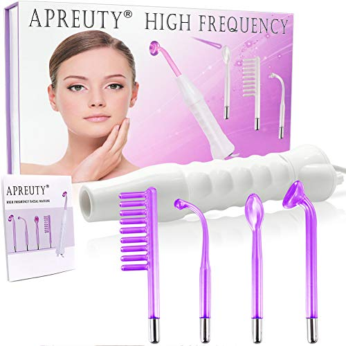 High Frequency Machine, APREUTY Portable Handheld High Frequency Acne For Skin Tightening Wrinkles Remover Beauty Eyes Body Care Wand Facial Machine Violet