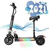 Electric Scooter Adult, H5 Electric Scooter With Seat Fast Scooter 800W Motor Max Speed 45km/h Foldable Electric Scooter with LCD display 10A Li-Ion battery Foldable E-Scooter