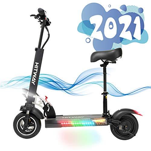 SOUTHERN WOLF Elektro Scooter Erwachsen, Elektro Scooter Faltbarer Elektroroller Für Erwachsene E Scooter mit 45Km/h 800W Motor 45km/h 10Ah (Black) (Blcak)