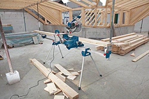 Bosch Professional Arbeitstisch für Kapp- und Gehrungssägen GTA 3800 (inkl. Maschinenhalter, Schraubschlüssel, Werkstückauflagen) - 4