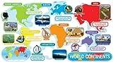Scholastic Teacher's Friend World Continents Bulletin Board (TF8036), Multicolor