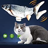 GBSYU Floppy Fish Cat Toy, Cat Toys for Indoor Cats with Catnip, Interactive Cat Toy for Cat Exercise, Realistic Cat Fish Toy, Motion Kitten Toys