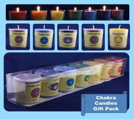 Unbekannt Feng Shui Chakra perfumadas Velas perfumadas, Aroma Vela Vela de 100% palmöl con aceites Esenciales