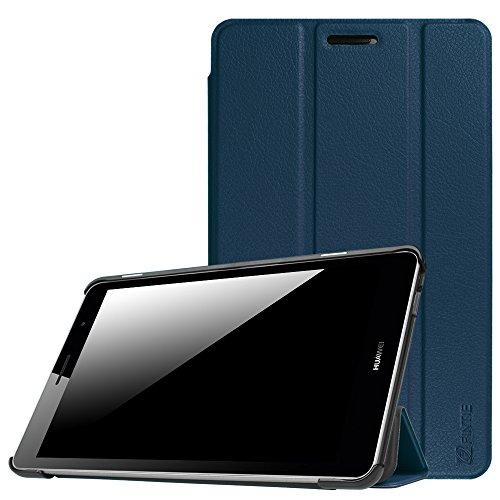 Huawei Mediapad T3 8 Hülle Case - Ultra Dünn Superleicht SlimShell Ständer Cover Schutzhülle Tasche mit Zwei Einstellbarem Standfunktion für Huawei T3 20,3 cm (8,0 Zoll), Marineblau