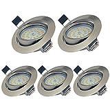Lamparas Plafones Focos Empotrables de Downlight LED de Techo Regulables 5W...