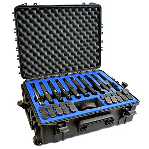 10 Pistol 20 Magazine Doro Wheeled Gun Case with Custom...
