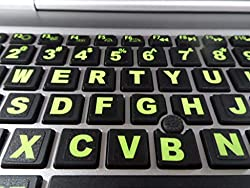 powerful Keyboard sticker with fluorescent insert and USB backlight. A very big character.Inlay (not …
