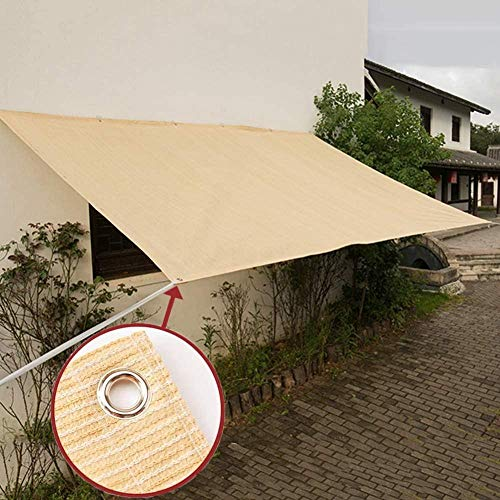 H.ZHOU Shade Beige Plant Shade Awning Large Sun Shade Cover for Outdoor Garden Patio Terrace 90% Sunscreen Effect Dustproof and Windproof-6m x 8m H00120