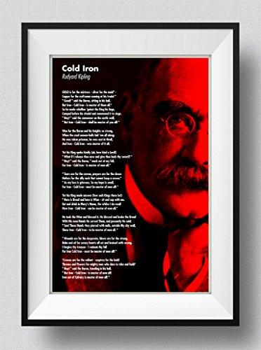 Best Quality Prints Rudyard Kipling Poem Print - Cold Iron - Art Photo Poster Gift - Size: 60cm x 40cm